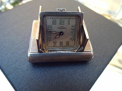 Tavannes, Art Deco, Sterling  Silver  Purse  Watch/ Miniature  Desk  Watch