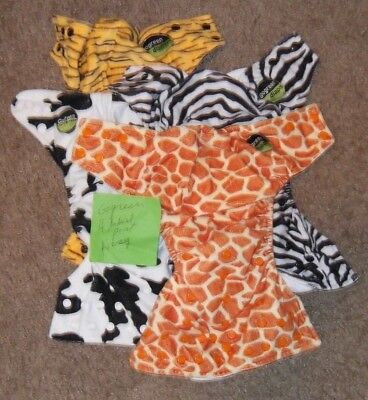 4 Assorted Go Green Cloth Diapers