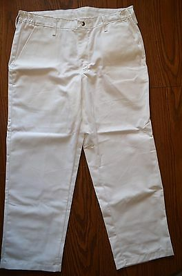 Chef Designs Men's Chef Pants Size: W36 x L30 Color: White *NEW*