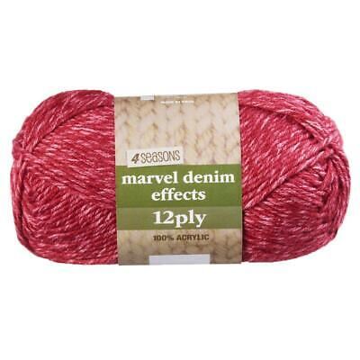 NEW 4 Seasons Marvel Denim Effects Printed 12 Ply Acrylic Yarn 100 g By Spotligh