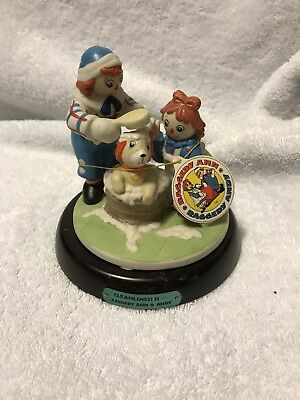 """Flambro Raggedy Ann & Andy  """"Cleanliness Is"""" Figurine 4581"""