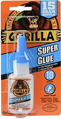 Gorilla Super Glue, 15 g, Clear
