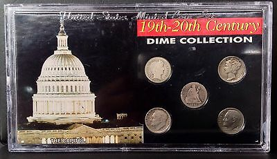 Five 1891 to 1982 10c 19th-20th CENTURY DIME Collection SSCA set
