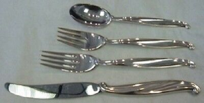 Swan Lake By International Sterling Silver Regular Size Place Setting(s) 4pc
