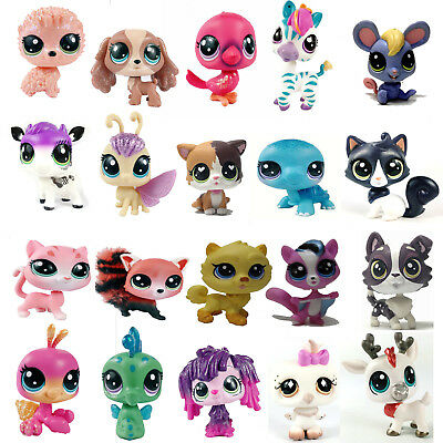 Random Hasbro Littlest Pet  Shop LPS Figure Dog Puppy Cat Kitten Animals Toys