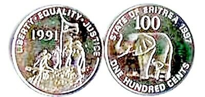 Thirty (30) Eritrea 100 Cents Uncirculated Coins, KM48,1991
