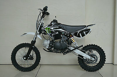 Monster 125cc dirt bike  pit bike thumpster semi auto black, white, pink or blue