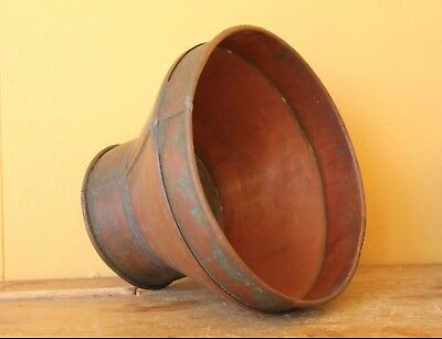 Vintage / Antique copper Brewing funnel, sieve. Beer collectable.