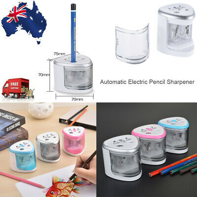 Dual Hole Electric Automatic Pencil Sharpener Battery Operated for School Office