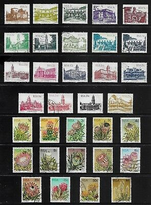 SOUTH AFRICA mixed collection, 1982 Architecture, 1977 Succulents, Proteas