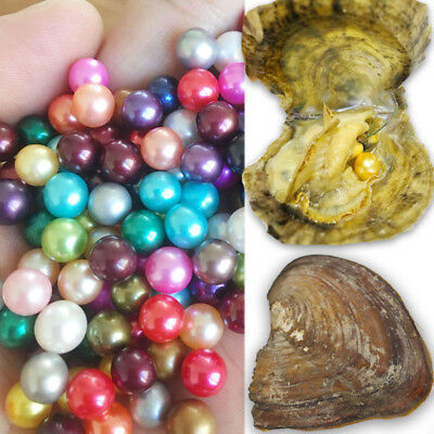 NEW Colors 10PCS Akoya Oysters With Pearls 6-7mm Birthday Wedding Gift For Women