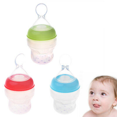 Baby Squeezing Feeding Spoon Silicone Rice Cereal Nutrition Supplement Feeder