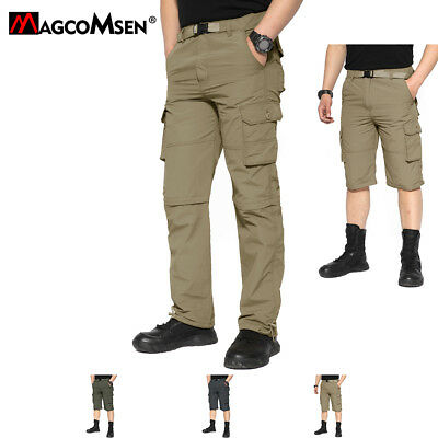 Big Pockets Mens Quick Dry Zip Off Convertible Cargo Pants Shorts Hiking Pants
