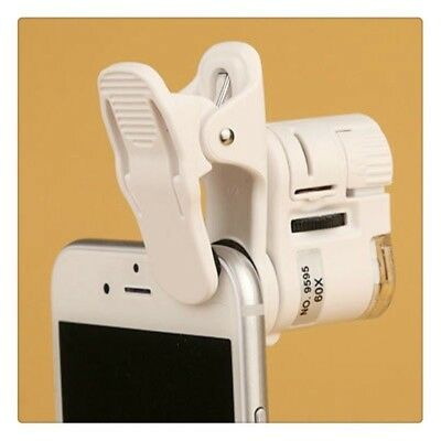 60X Mobile Phone Magnifier Optical Zoom Telescope Camera with Led Light