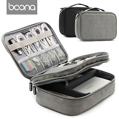 Baona Electronic Accessories Cable USB Drive Case Bag Portable Insert Organizer