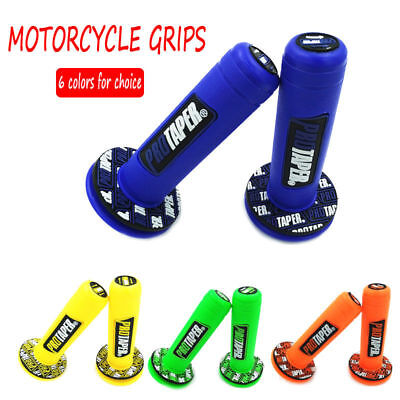UNIVERSAL Motorcycle Grips Rubber Gel HANDLE BAR Dirt Pit SPORTS Bike PROTAPER