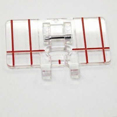 Clear Parallel Stitch Foot Presser for Brother Singer Domestic Sewing Machine
