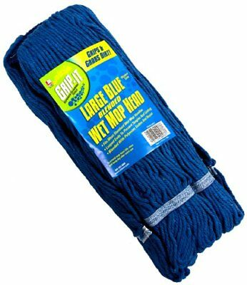 Laitner Brush Company 4 Ply Looped Mop Head, Large, Blue