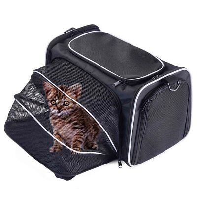 L-S One-Side Expandable Pet Travel Carrier Handbag Kennel Cat Dog Shoulder Bag