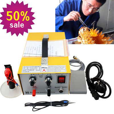 30A Pulse Sparkle Spot Welder 200W Jewelry Welding Machine Gold Silver PlatinumS