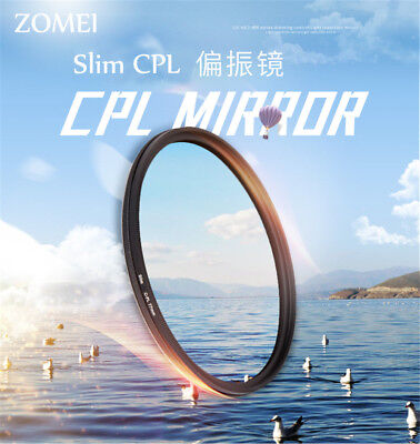 ZOMEI Professional Thin CPL Camera Lenses Filter Protector 55/58/67/72/77/82mm