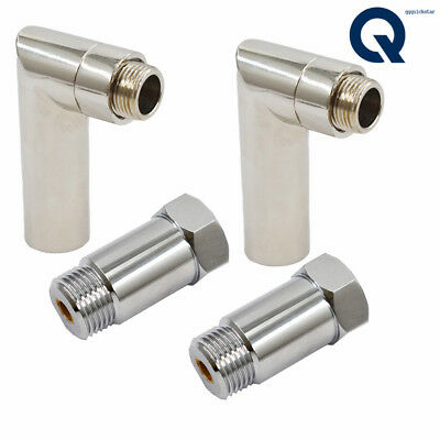 SDT 2pcs 90 Degree Steel Angled O2 Sensor Bung Oxygen Extension Spacer Downpipe