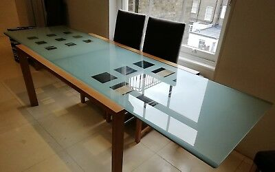 LIGNE ROSET EXTENSIA Glass Dining Table Extendable to 2.7 metres ...