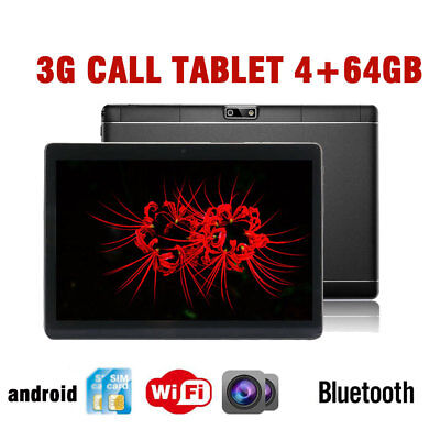 """10.1"""" Tablet PC 4G+64G Android 6.0 Dual SIM &Camera Phone Wifi Phablet bluetooth"""