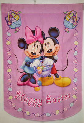 Disney Garden Flag Mickey Mouse & Minnie Happy Easter 2006 Hamilton Collection