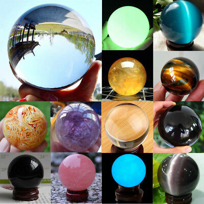 Naturale Sfera Cristallo Palla Globo Quarzo Gemstone Reiki Guarigione Regalo Mix