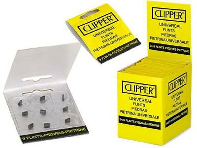 Lot 5 Étuis X9 Pierres De Rechange Universelle Briquet Gaz Clipper (45 Pierres)
