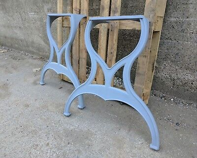 Pair of Cast iron machine legs for dining or kitchen vintage industrial table