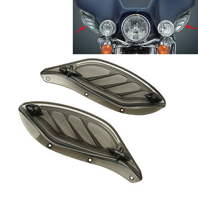 Smoke Fairing Adjustable Side Wings Air Deflector For Harley Electra Glide 96-13