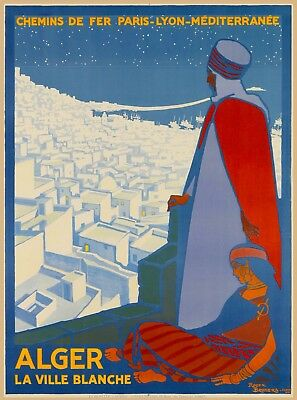 Alger Algeria Algerie Africa Vintage Travel Adventure Advertisement Poster Print