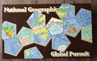 National Geographic Global Pursuit Board Game Complete 1987 Vintage