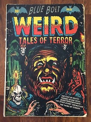 Blue Bolt Weird Tales of Terror 111 / LB Cole Classic Cover / PCH / Free Ship