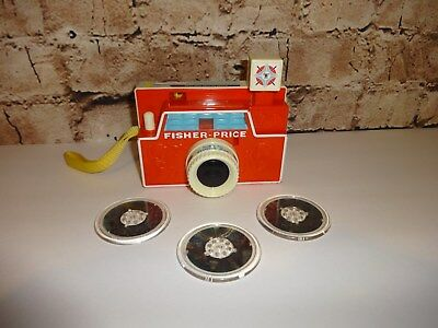 Fisher Price Disc Camera With 3 Discs Mattel Excellent Clean Kids Toy