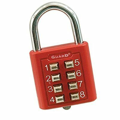 Tactile Push-Button Combination Padlock - Red