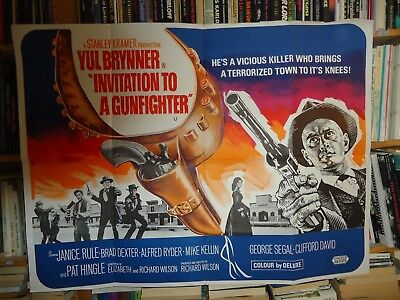 Westernyul brynnerinvitation to a gunfighter british quad poster westernyul brynnerinvitation to a gunfighter british quad poster stopboris Image collections