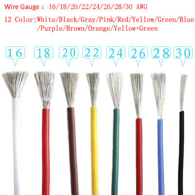 16-30 AWG Flexible Stranded of UL1007 Tin Plated Copper Wire Cable - All Colours
