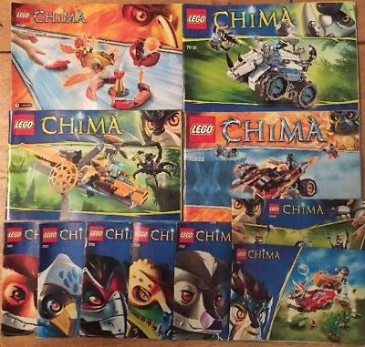 Bundle Lego Chima 70127 70124 70229 More Plans Instruction Booklet