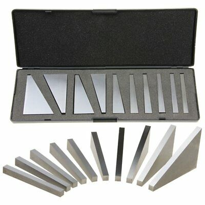 10Pcs 1-30 Degree Angle Block Set With Case For Lathes Milling Machinist Tool LI