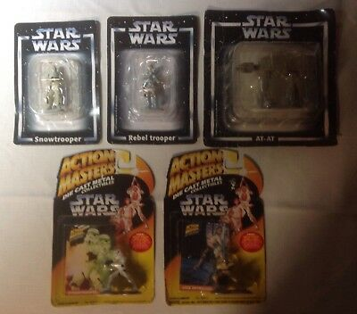 De Agostini Star Wars collectible figurines and Action Masters Star Wars figures