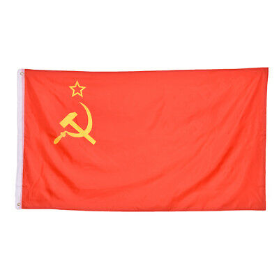 Red Revolution Union Of Soviet Socialist Republics Banner flag  Home Decor WKHWC