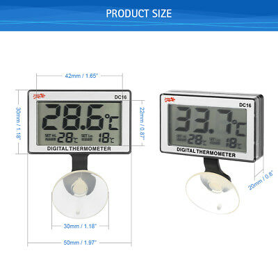 LCD Digital Aquarium Thermometer Submersible With Alarm £3.99 24HR Dispatch UK