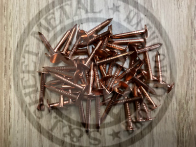 "1"" Annular Smooth Solid Copper Roofing Nails 11 gauge (50 pcs)"