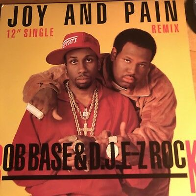 "ROB BASE & D.J. EZ ROCK~Joy And Pain 12"" SINGLE~3 Mixes~PRO7247~VG+"
