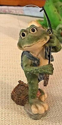 Really Cute  Lot Of Two Taller Fishing Frog Couple