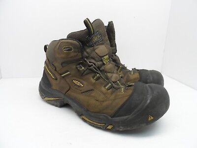 84a591b55b5 KEEN MEN'S BRADDOCK WATERPROOF MID STEEL TOE Work Boots BROWN/TAWNY OLIVE  13D