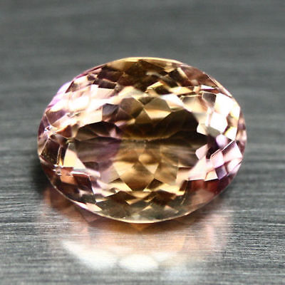 8.14 Ct Natural! Purple & Golden Bolivia Ametrine Oval